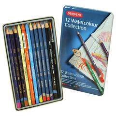 Watercolor Pencil 12-Color Tin Set