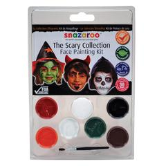Face Painting Clam Shell Kit Scary