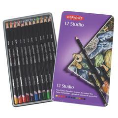 Derwent Studio Pencil 12-Color Tin Set