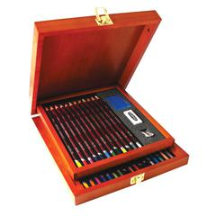 Colored Pencils Collection Wood Box Set