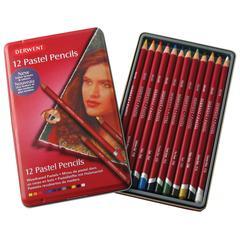 Derwent Pastel Pencil 12-Color Tin Set