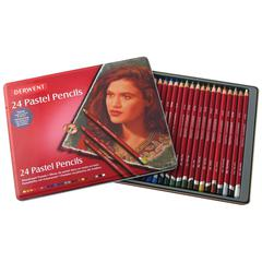 Derwent Pastel Pencil 24-Color Tin Set