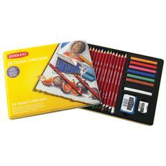 Pastel Pencil 24-Color Collection Tin Set