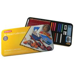 Pastel Pencil 38-Color Collection Tin Set