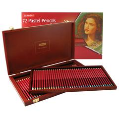 Pastel Colored Pencils 72-Color Wood Box Set