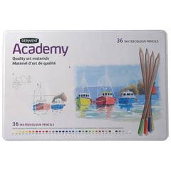 Derwent Academy Watercolor Pencil 36-Color Tin Set