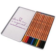 Derwent Academy Watercolor Pencil 12-Color Tin Set