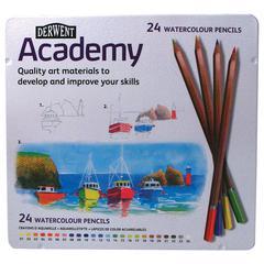 Watercolor Pencil 24-Color Tin Set