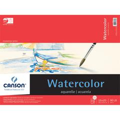 "Canson Foundation Series 15"" x 20"" Watercolor Cold Press 15-Sheet Pad"