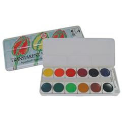 12-Color Transparent Gouache Set