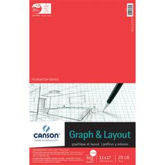 "11"" x 17"" Graph and Layout Sheet Pad"