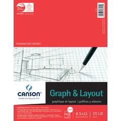 "Canson Foundation Series 8.5"" x 11"" Graph and Layout Sheet Pad"