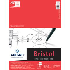"Canson Foundation Series 9"" x 12"" Foundation Bristol Sheet Pad"