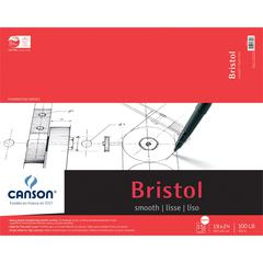 "Canson Foundation Series 19"" x 24"" Foundation Bristol Sheet Pad"