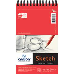 """Canson Foundation Series 5.5"""" x 8.5"""" Foundation Sketch Sheet Pad"""