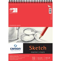 """Canson Foundation Series 11"""" x 14"""" Foundation Sketch Sheet Pad"""