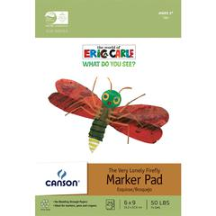 "Canson The World of Eric Carle The Very Lonely Firefly 6"" x 9"" Marker Paper Pad"