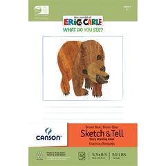"""Canson The World of Eric Carle Brown Bear Brown Bear 5.5"""" x 8.5"""" Sketch and Tell Books"""