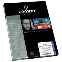 "Canson Infinity Rag Photographique Duo 8.5"" x 11"" Digital Paper Sheets 25-pack 220g"