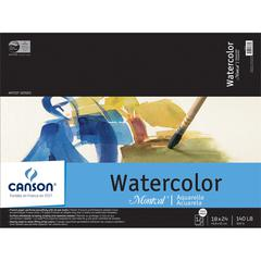 "Canson Montval Artist Series 18"" x 24"" Watercolor Cold Press Sheet Pad"