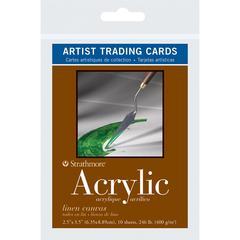 "2.5"" x 3.5"" Linen Canvas Acrylic Artist Trading Cards"
