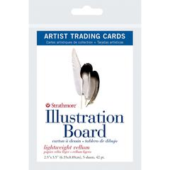 "Strathmore 500 Series 2.5"" x 3.5"" Light Weight Vellum Illustration Board Artist Trading Cards"
