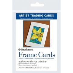 "3.5"" x 4.875"" White Die Cut Window Artist Trading Card Frame Cards"