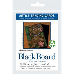 "Strathmore 2.5"" x 3.5"" Black Board Artist Trading Cards"