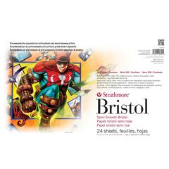 """Strathmore 11"""" x 17"""" 2-Ply Semi-Smooth Surface Sequential Art Bristol Sheets"""