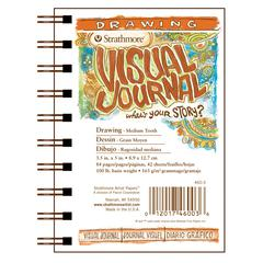 "3.5"" x 5"" Medium Surface Wire Bound Drawing Book"