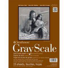 "9"" x 12"" Assorted Tints Glue Bound Gray Scale Pad"