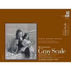 "Strathmore 400 Series 18"" x 24"" Assorted Tints Glue Bound Gray Scale Pad"
