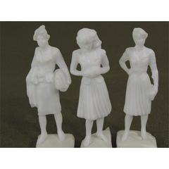 "Wee Scapes Architectural Model Human Figures - 1/2"" Female 3-Pack"