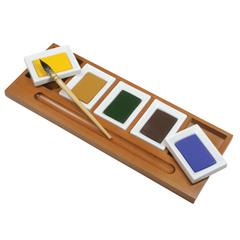 Wooden Palette for Watercolor Large Pans