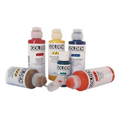 Golden Fluid Acrylic 4 oz. Vat Orange