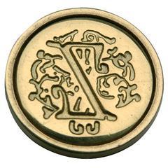 Manuscript Initial Ceramic Mini Seal Z