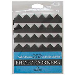 Archival Self-Adhesive Photo Corners Black