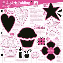 "Hot Off the Press 12"" x 12"" Papercrafing Template Iris Folding"