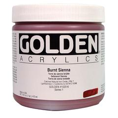Golden Heavy Body Acrylic 16 oz. Burnt Sienna