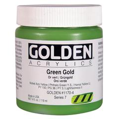 Heavy Body Acrylic 4 oz. Green Gold