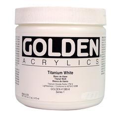 Golden Heavy Body Acrylic 16 oz. Titanium White