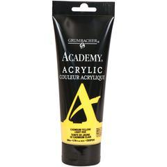 Grumbacher Academy Acrylic Paint 200ml Cadmium Yellow Light Hue