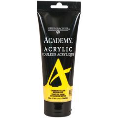 Grumbacher Academy Acrylic Paint 200ml Cadmium Yellow Medium Hue