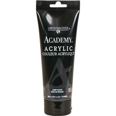 Grumbacher Academy Acrylic Paint 200ml Lamp Black
