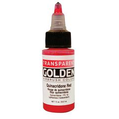 Golden Opaque Airbrish Color Paint 1oz Quinacridone Red