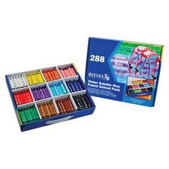 Reeves Water Soluble Wax Pastel 288-Color Set