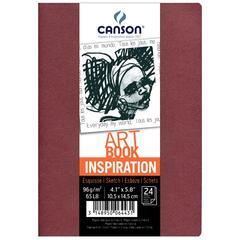 Canson ArtBook Inspiration Stitchbound Book 2-Pack Wineless and Red Earth