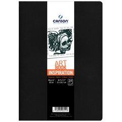 Canson ArtBook Inspiration Stitchbound Book 2-Pack Black and Dark Gray