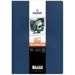 Canson ArtBook Inspiration Stitchbound Book 2-Pack Indigo Blue and Lavender Blue