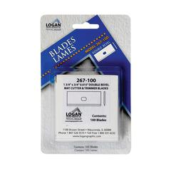 Logan Mat Cutter Replacement Blades 100-Pack